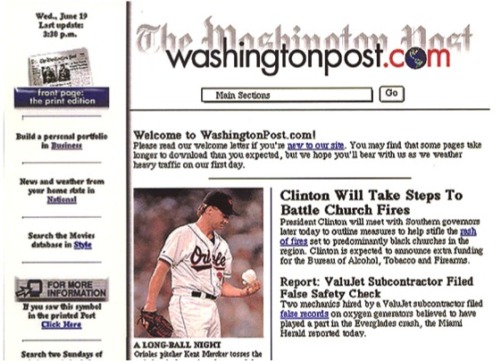 washingtonpost.com Launch Page