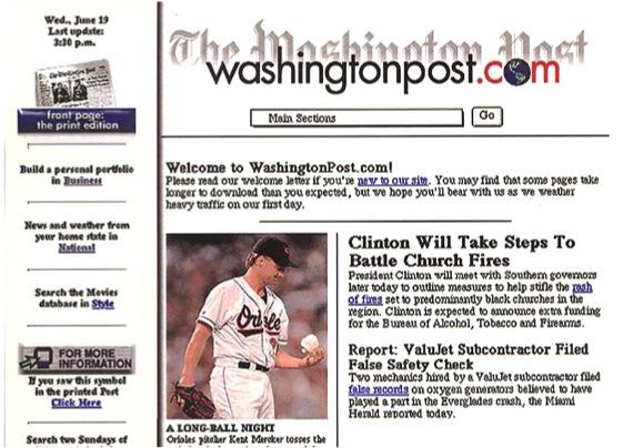 washingtonpost.com Launch Page