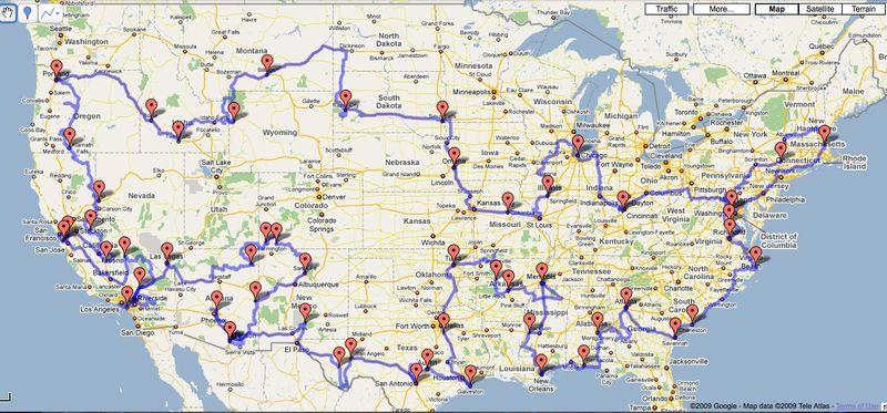 Final Trip Map